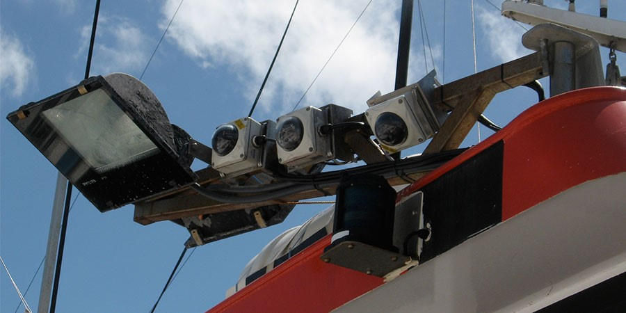 Bank of electronic monitors used to monitor tuna fishing. Photo: AFMA.