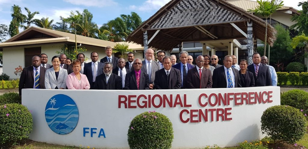 Attendees of the regional judicial symposium on responsibility in fisheries, Honiara, Solomon Islands