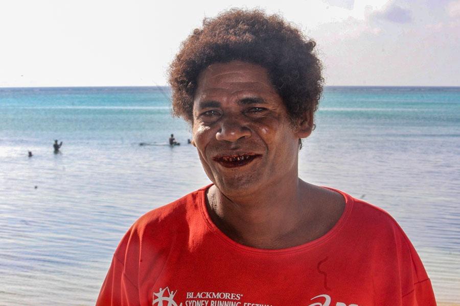 Head and shoulders portrait of Dominick Tuita. Photo: WorldFish/Bira'au Wilson Saeni.