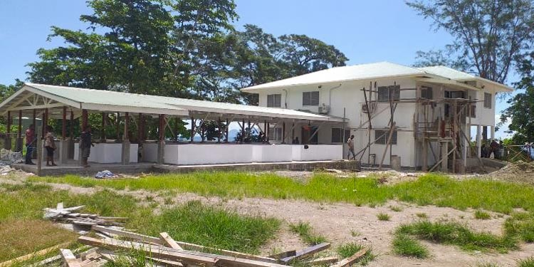 Building of office and pools nears completion at Aruligo tilapia hatchery, Guadalcanal