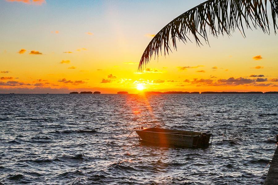 Sunrise over the Fakaofo lagoon, Tokelau, November 2018. Photo: Fatu Tauafiafi/Pacific Guardians.