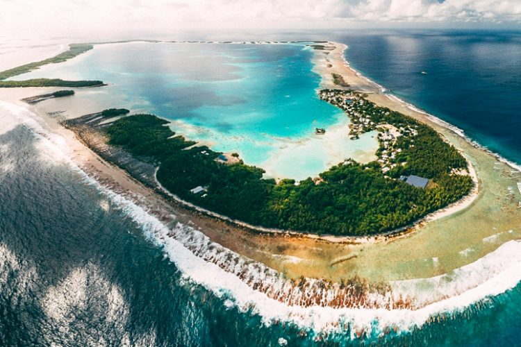 Atafu, the northernmost atoll of the Tokelau group, from the air. Photo Andrew Mata'utia.