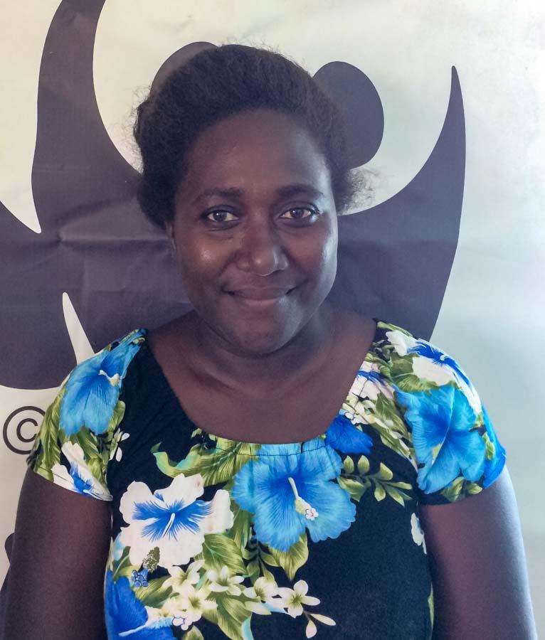 Head and upper body photo of World Wildlife Fund Gizo fisheries officer Ms Dafisha Aleziru. Photo George J Maelagi.