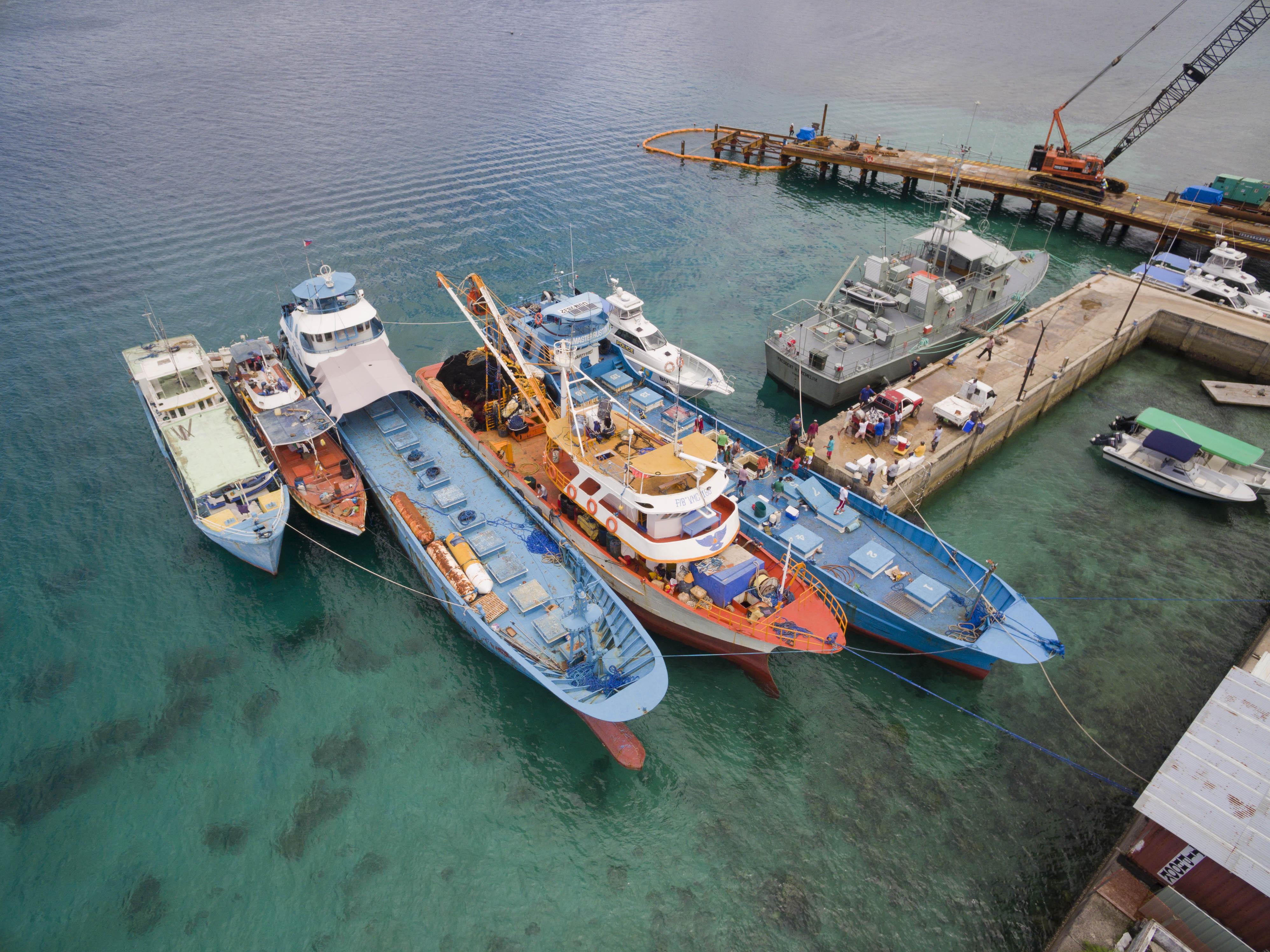 Marine surveillance operation involving 4 countries seizes two Filipino vessels in Palau