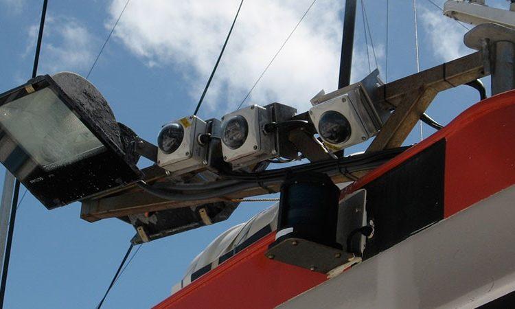 Bank of electronic monitors used to monitor tuna fishing. Photo: AFMA.