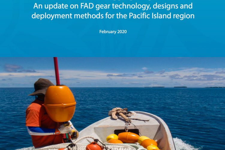 Detail of cover of manual on design and deployment of anchored fish-aggregating devices published by Pacific Community