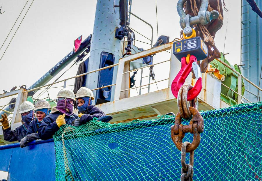 Experiments with hanging crane scales could lead to faster transhipping: postcard from Majuro