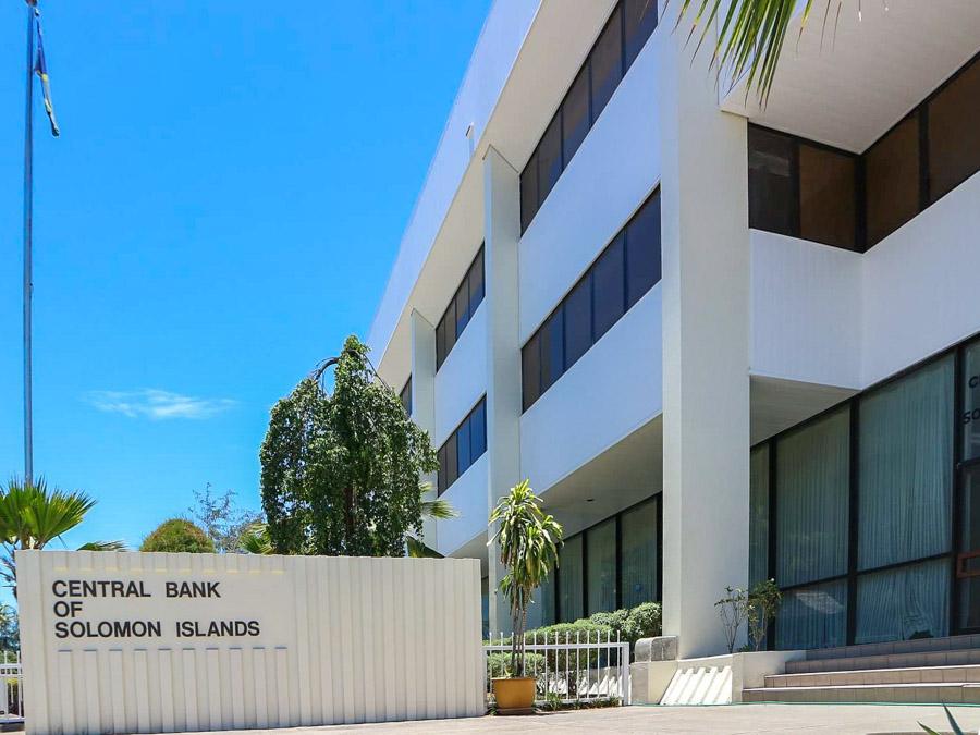Front of Central Bank of Solomon Islands building, Honiara