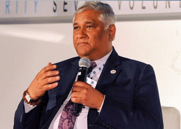 Head and upper body photo to Dr Satyendra PrasadFiji's permanent representative to the UN. Photo: FBC TV.