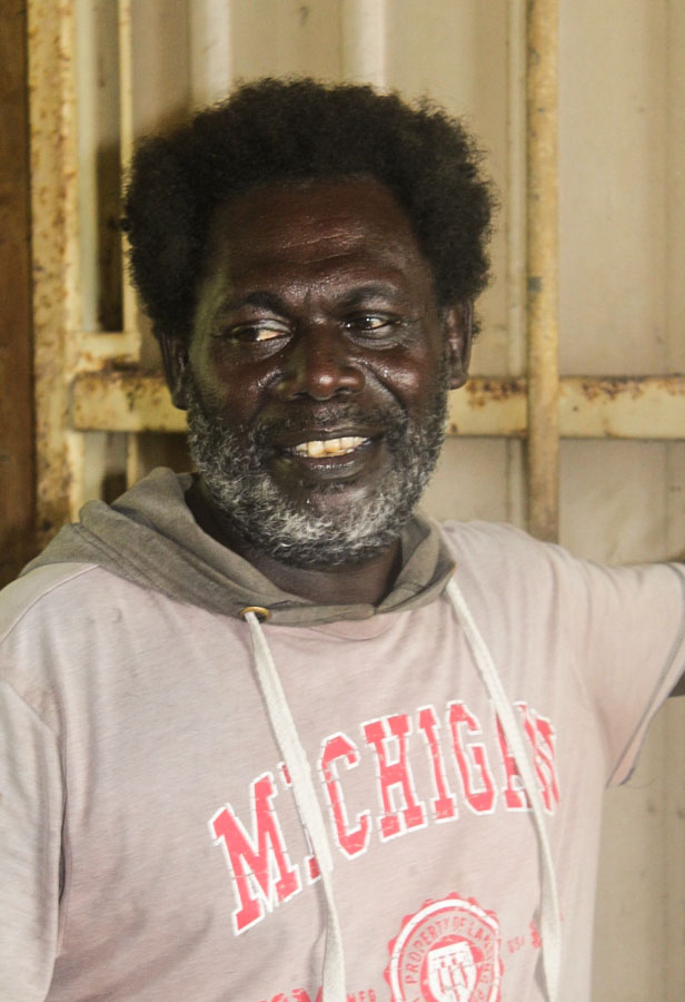 Head and torso photo of Talent Taipeza, a former officer in charge of the operations of Yandina Fisheries Centre, Russell Islands group of Solomon Islands
