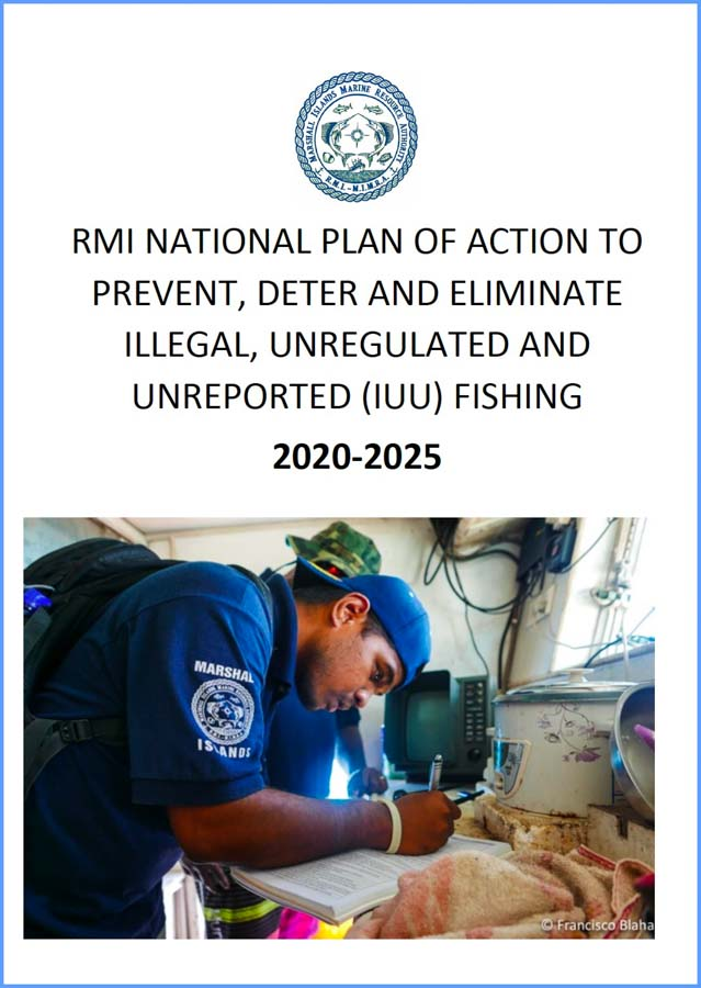 Cover of the Marshall Islands' NPOA-IUU document, a plan to combat illegal, unreported and unregulated fishing in line with FAO IPOA-IUU